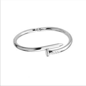 NEW🔥 Silver Nail Screw Wrap Metal Bracelet